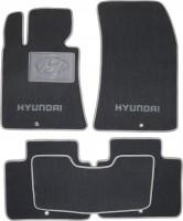 Коврики в салон для Hyundai Genesis '12- текстильные, серые (Люкс)