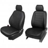 Авточехлы из экокожи для салона Chevrolet Aveo '06-11 T250 (Seintex)