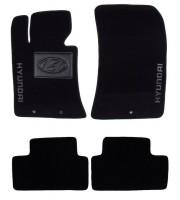 Коврики в салон для Hyundai Genesis Coupe '08- текстильные, черные (Люкс)