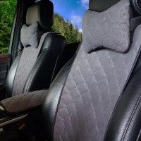 Накидки на передние сидения  АVторитет Премиум, темно-серые