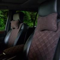 Накидки на передние сидения  АVторитет Премиум, темно-коричневые