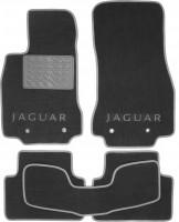 Коврики в салон для Jaguar XF '09-15 текстильные, серые (Люкс)
