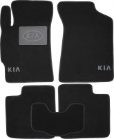 Коврики в салон для Kia Shuma II '98-04 текстильные, черные (Люкс)