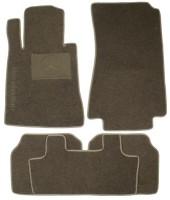 Коврики в салон для Mercedes S-class W140 '91-98 седан, текстильные, серые (Люкс)