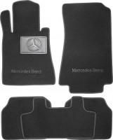 Коврики в салон для Mercedes S-class W140 '91-98 седан, текстильные, черные (Люкс)