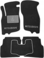Коврики в салон для Mitsubishi Carisma '95-06 текстильные, серые (Люкс)