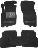 Коврики в салон для Mitsubishi Carisma '95-06 текстильные, черные (Люкс)