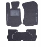 Коврики в салон для Honda Legend '08-13 текстильные, серые (Люкс)