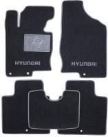 Коврики в салон для Hyundai Grandeur '12- текстильные, серые (Люкс)