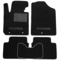 Коврики в салон для Hyundai Veloster '11- текстильные, серые (Люкс) 3 клипсы