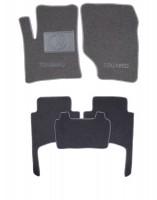 Коврики в салон для Volkswagen Touareg '02-09 текстильные, серые (Люкс)