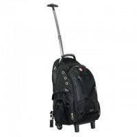 Рюкзак дорожній, 3 відділення, 30 л. на колесах з телескопічною ручкою Intertool BX-9024