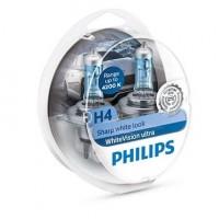 Автомобильная лампочка Philips WhiteVision ultra H4 12V 60/55W +W5W (комплект: 2+2шт.)