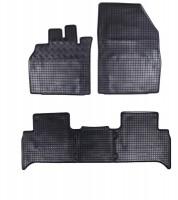 Коврики в салон для Renault Scenic '03-08 резиновые, черные (Rigum)