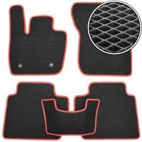 Kinetic Коврики в салон для Ford Fusion (Mondeo) '12- амер.версия, EVA-полимерные, черные с красной тесьмой (Kinetic)