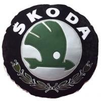 "Подушка-автознак круглая Sportkreslo ""Skoda"""