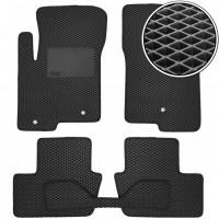 Kinetic Коврики в салон для Jeep Compass '06-16 3 кл., EVA, черные с подпятником (Kinetic)
