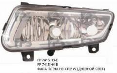 Противотуманная фара для VW Polo '09-17 левая (Depo) с дневн. светом H8 + P21W 6R0941061B