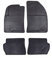 Коврики в салон для Ford Fusion '02-12 резиновые, черные (Rigum)