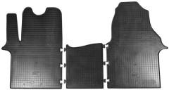 Комплект резиновых ковров Renault Trafic '01-14, 1+2 резиновые (Stingray)