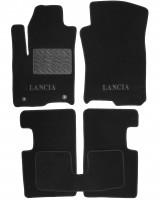 Коврики в салон для Lancia Ypsilon 11- текстильные, черные (Люкс)