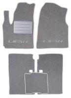 Коврики в салон для Lifan X60 текстильные, серые (Люкс)