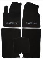 Коврики в салон для Lifan X60 текстильные, черные (Люкс)