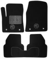 Коврики в салон для MG 6 '10- текстильные, черные (Люкс) 4 клипсы