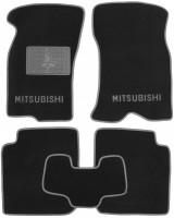 Коврики в салон для Mitsubishi Colt до 2000 г.в. текстильные, серые (Люкс)