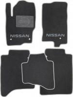 Коврики в салон для Nissan Navara '10-14 текстильные, серые (Люкс)