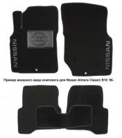 Коврики в салон для Nissan Navara '10-14 текстильные, черные (Люкс)