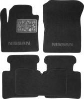 Коврики в салон для Nissan Teana '03-08 текстильные, черные (Люкс)