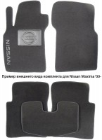 Коврики в салон для Nissan X-Terra II '04- текстильные, серые (Люкс)