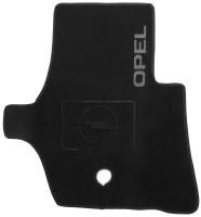 Фото 2 - Коврики в салон для Opel Movano '03-10 текстильные, черные (Люкс)
