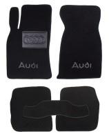 Коврики в салон для Audi A6 '97-05 текстильные, черные (Люкс)