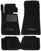 Коврики в салон для BMW 5 E34 '88-96 текстильные, черные (Люкс)