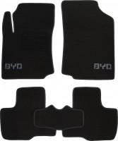 Коврики в салон для BYD F0 '08- текстильные, черные (Люкс)