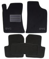 Коврики в салон для BYD F3 '05- текстильные, черные (Люкс)