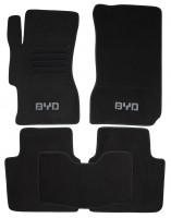 Коврики в салон для BYD F6 '08-12 текстильные, черные (Люкс)