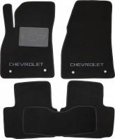 Коврики в салон для Chevrolet Malibu '12- текстильные, черные (Люкс)