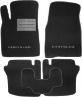 Фото 1 - Коврики в салон для Chrysler Sebring '01-10 текстильные, черные (Люкс)