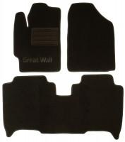 Коврики в салон для Great Wall Voleex C30 '10- текстильные, черные (Люкс)