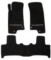 Коврики в салон для Hummer H3 '05-10 текстильные, черные (Люкс)