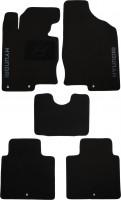 Коврики в салон для Hyundai Grandeur '12- текстильные, черные (Люкс)