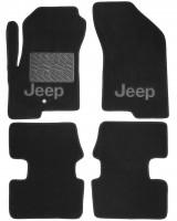 Коврики в салон для Jeep Compass '06- текстильные, черные (Люкс)
