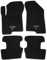Коврики в салон для Jeep Patriot '07- текстильные, черные (Люкс)