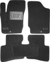 Коврики в салон для Kia Cerato Koup '09- текстильные, черные (Люкс)