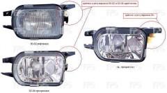Противотуманная фара для Mercedes W203 С-class '00-04 правая (FPS) прозрачная