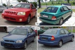 Противотуманная фара для Hyundai Accent '99-03 левая (FPS) седан
