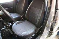 Авточехлы Premium для салона Ford Fusion '02-12 серая строчка (MW Brothers)